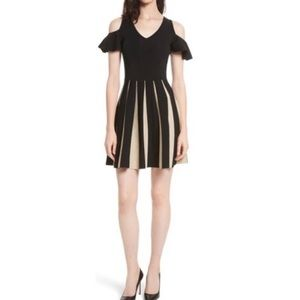 Ted Baker London Wytney Black and Gold Dress